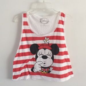 Disney Minnie Mouse overstate tank sailor stripe s